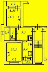 Продаю двухкомнатную квартиру в Пензе