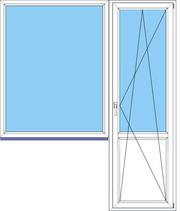 продам новое в упаковке пластиковое окно и дверь для лоджии