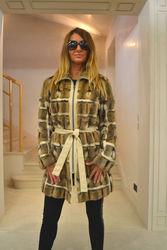 Симпатичный пиджак из меха хомяка. Размер 46(М)