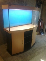 продаётся аквариум панорама - 350 литров с тумбочкой- заводской
