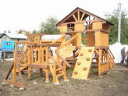 Детские площадки из натурального дерева. Игровые комплексы.